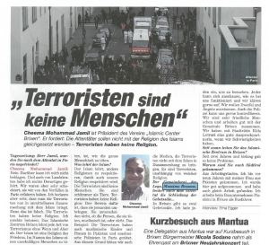 2015.01.13 Tageszeitung - Massimo Bessone
